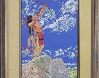 Skyhunter Cross Stitch Chart Native American Red Indian