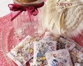 Apothecary Jar Powder Sampler (8 fragrance sample gift set)  Vintage Floral Prints