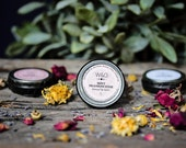 Lip Butter Natural Lip Balm Frankincense Mint Herbal Salve Essential Oil Scented Balm Mothers Day Gift Fresh Botanical Garden Scent