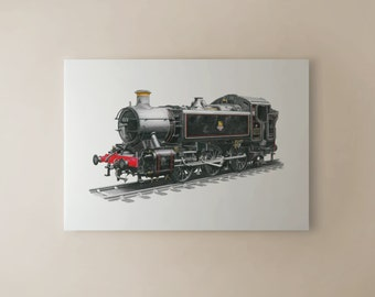 Pannier Tank 0-6-0 No.1501 CANVAS PRINT