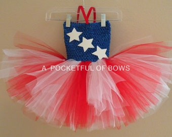 Red White and Blue Tutu Dress 4th of July Tutu New Years Day