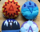 Hand Sewn Felt Christmas Ornaments: The Four Elements