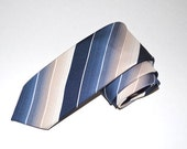 Wembley Necktie, Vintage Tie, Blue Tie, Blue and Tan Necktie, Vintage Necktie, Men's Necktie, Striped Tie, Wembley Tie, SALE!