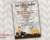 Our Little Hunter Birthday Printable Invitation