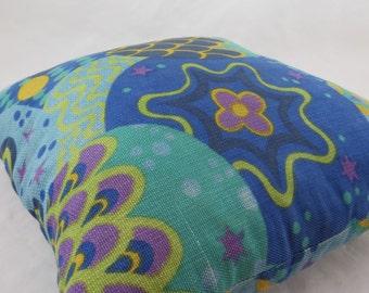 Vintage 60s Decorator Pillow,Aqua Lime Purple Pillow,Decorator Pillow,Mod Pillow,Psychedelic Pillow,Glamper,Cabin,Free Shipping,7PMT15