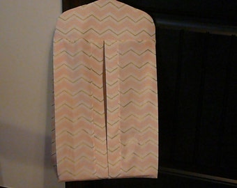 Diaper Stacker in Pink and Gold Chevron