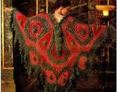 Crochet Pattern, Crochet Shawl Pattern - Crochet Butterfly PDF Pattern, Crochet Shawl Instant Download Pattern, Crochet Shawl Pattern