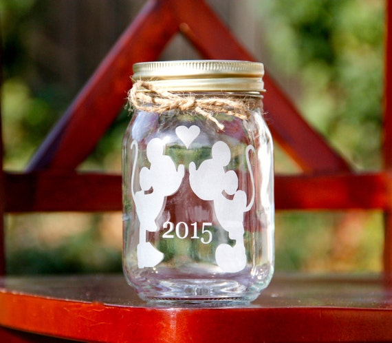 Valentines Day Jar, PINT SIZE, Etched Mason Jar, Customize your own