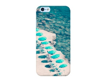 Beach iPhone 7 case, iPhone 6 case, aerial beach iPhone case, Blue iPhone case, iPhone SE case