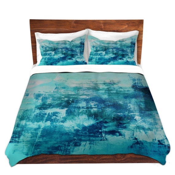 Off The Grid 4 Coastal Blue Fine Art Duvet Cover King Queen