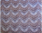 """Stretch Victorian Extra Wide Lace, Black / Mauve, 9.8"""" inch wide, For Apparel, Home Decor, Accessories, Mixed Media, Gifts"""