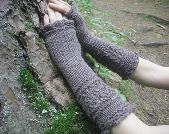 Fingerless Gloves, Knit Fingerless Gloves, Wool Fingerless Gloves, Wool Arm Warmers, Wrist Warmers, Knitted Gloves, Mori Girl, Mori Kei