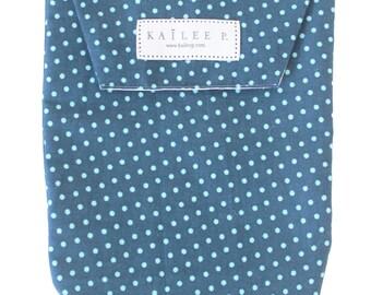 Blue Polka Dots Diaper Pouch