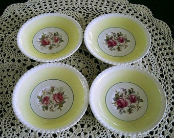 Vintage Windsor Ware Dipping Sauce Bowls Johnson Brothers saucers, snack plates cup saucers, vintage English housewares back stamped