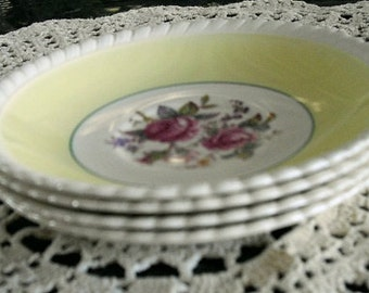 Vintage Windsor Dipping Sauce Bowls Johnson Brothers Saucers, replacement china, snack plates cup saucers, vintage English housewares