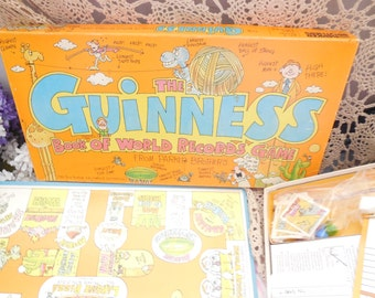 The Guinness Book of World Records Game,Board Game,Vintage Board Game,Games,Not included in Coupon Sale