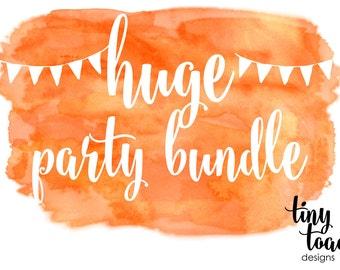 HUGE Party Bundle - digital add on bundle to match any item by tiny toad designs, DIY Printable, digital file