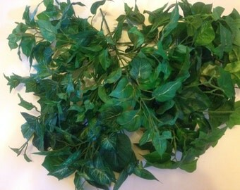 lots of fabric greenery stems pieces (NN)