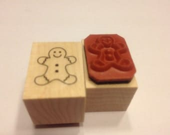 small Gingerbread man stamp , 17 mm (JJ)
