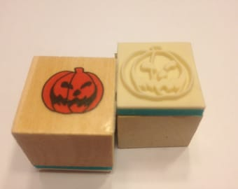 small jack o lantern rubber stamp, 20 mm (R8)