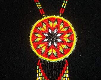 morningstar necklace,native american, pow wows