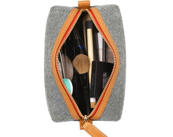 Makeup Organizer Collection Bag Genuine Leather Travel Bag Cosmetic Bag Small Storage Bag Package Bag Purse Christmas Gift Pouch Piggy S