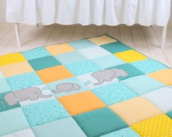 Baby Rug, Boy Girl Play Mat, Activity Mat, Baby Playmat, Padded Mat,  Travel Play Mat, Personalized Playmat, Custom Baby Mat, Teal, Aqua