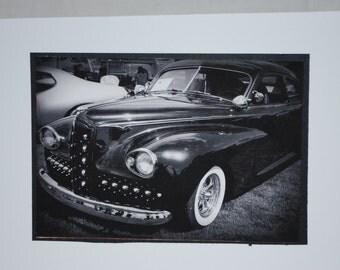 photo card, classic car photograph. 1947 Packard