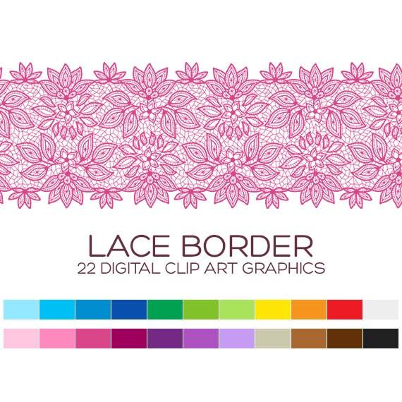 Digital Lace Border Clipart Digital Borders Clip Art