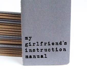 Boyfriend Gift, Valentine's Day Gift; Gift for boyfriend, MOLESKINE® notebook; journal; my girlfriend's instruction manual; Lesbian Gift.