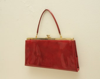 Vintage Red Clutch Purse
