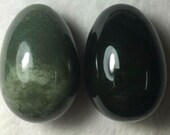 Yoni Egg: CERTIFIED Nephrite Jade 50x 35 mm size M