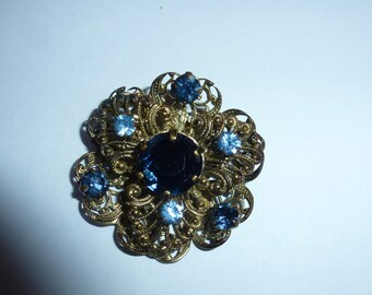 Vintage Czech Brooch Pin