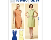 Sleveless Dresses with Fitted Bodice and Princess Seams A line Skirt - Kwik Sew 3760   - XS-S-M-L-XL K3978   Sewing Pattern