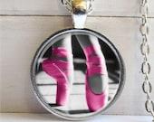 Ballet Pendant, Dance Recital Gift, Ballet Necklace, Art Pendant