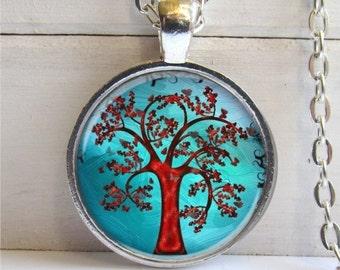 Tree Pendant, Photo Pendant, Tree Necklace, Whimsical Tree Charm
