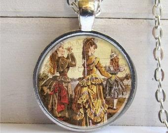 Victorian Pendant, Victorian Altered Art Pendant, Photo Pendant, Vintage Collage Necklace