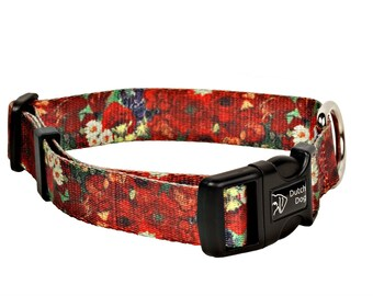 Dog collar Red Poppies Van Gogh
