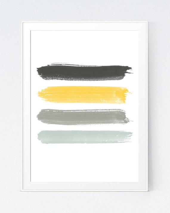 yellow grey strokes mustard and gray brush strokes yellow