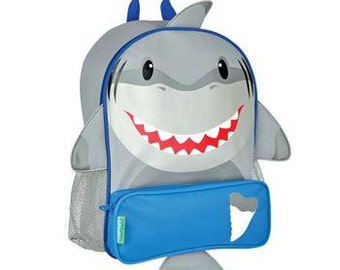 Personalized Stephen Joseph Sidekick Backpack Shark