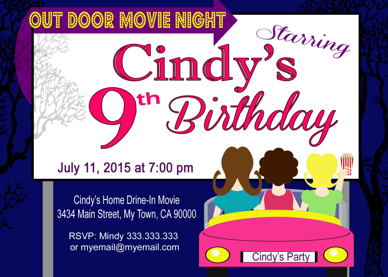 movie night invitations free printable - Pertamini.co