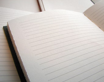 Add 64 extra pages to your custom lined leather journal, leather notebook