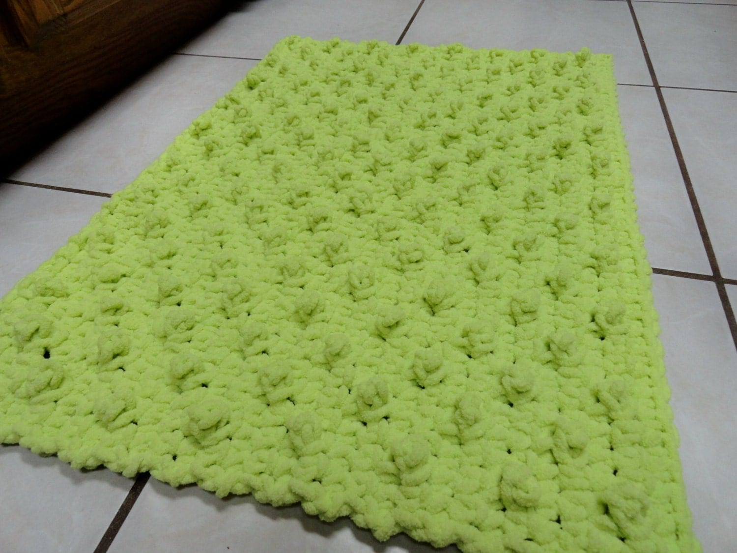 Original I Went With The Medium14 Hexagon Option, To Fit My Bathroom  And Compliment The Big Bold Chevron Curtain Already Hanging In There The Bees Knees Crochet Rug Works Up Crazy Fast With A Big Fat Hook And Bulky Yarn, And While The