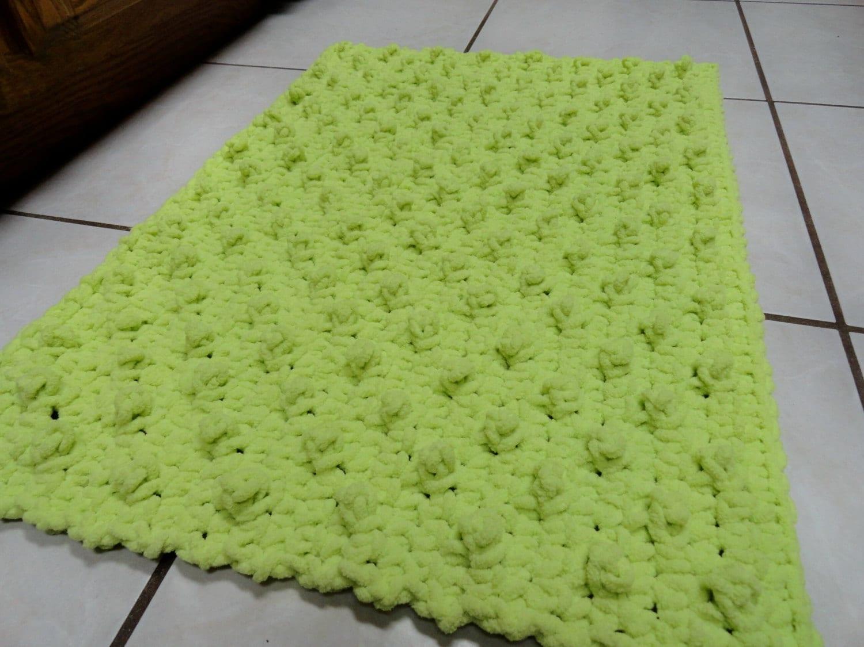 crochet bathroom rug bumpy bath mat kitchen rug citron lemon
