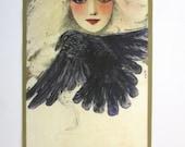 "Raven Woman 6"" Iron On Patch Applique"