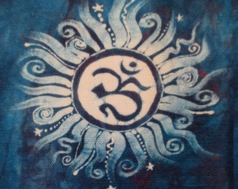 Om Iron On Patch Applique 4 1/2""