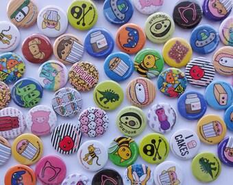 Cute Button Badges - Set of 3