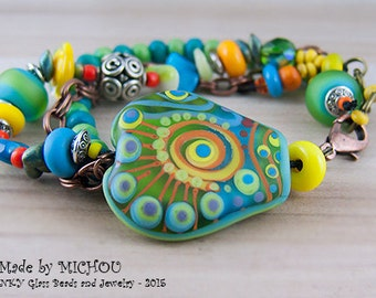 Roma - Art Glass Bracelet made by Michou Pascale Anderson