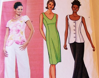 Butterick 3465 size 14 - 16 dress top cut to 16 pants not cut