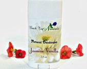 Jasmine Vanilla Natural Deodorant - Organic Deodorant Stick with Tea Tree Oil and Organic Coconut Oil - Homemade Deodorant Tube